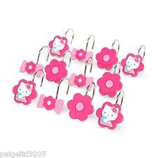 Sanrio Hello Kitty Fabric Shower Curtain Hooks Set of 12  HV010K