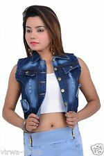 Fasdest Ladies/Women/Girl/Top/Cotti/Blazer/Denim Open Jacket #J7BL MRP 999