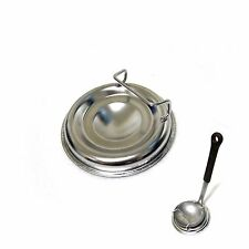 Round Stainless Steel Ladle Rest Holder Cooking Spoon Stand Tray Utensils Rack