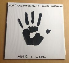 DAVID SHRIGLEY & MALCOLM MIDDLETON - WORDS & MUSIC VINYL LP HAND-PAINTED SLEEVE