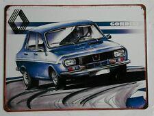 Plaque métal vintage Renault 12 Gordini