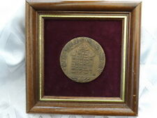 Israel bronze medal Blessed be This Home 70 mm Framed