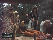 AL CLIVER MONDO CANNIBALE JESS FRANCO 1980 VINTAGE PHOTO LOBBY CARD N°5