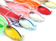 Chomp Lures Fishing Octopod Jigs 100g x5 Colours Scented Skirt, Glow in the Dark