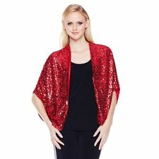 Slinky Paillette Fashionable 3/4 Slvs Sequin Cocoon Red Regular XS/S NEW 293-934