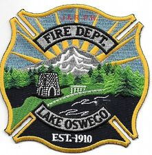 "Lake Oswego - 1910, Oregon  (4"" x 4"" size) fire patch"