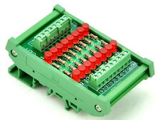 DIN Rail Mount 16 Channel Common Anode LED Indicator Gate Module, 12V Version