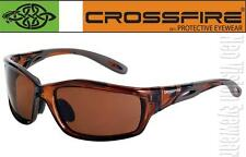 Crossfire Infinity Brown HD High Definition Safety Glasses Sunglasses Z87.1