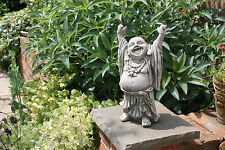 (NEW) HOME & GARDEN~STONE~ HANDS UP BUDDHA~BESPOKE GARDEN ORNAMENTS