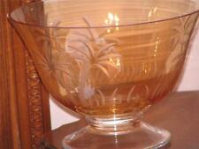 Lenox  British Colonial  Crystal Gold Glass Footed Bowl  New