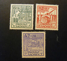 "GERMANY Germania Bizone Post REICH  1946 SASSONIA ""Ricostruzione"" 3V.Cpl set MH"