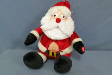 """Fun Just for Laughs Silly Santa Uncontrollable Shaking & Laughter 10"""" Tall 2005"""
