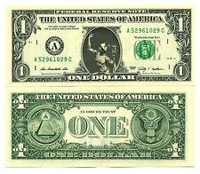 HERMES / CADUCEE - VRAI BILLET de 1 DOLLAR US ! CADUCEUS Mythologie Grecque Dieu