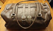 Konica Minolta Leather Carry on Overnight Duffle Bag Briefcase Rare Collectable