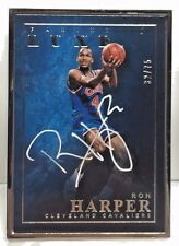 Ron Harper 2015-16 Panini LUXE Silver Metal Framed on-card Autograph Auto #'d/75