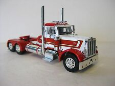 Peterbilt Day Cab Model Tractor 1/64th Scale Red / White DCP 3222