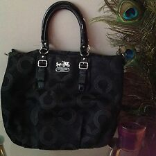 Coach Madison Op Art Shoulder Bag Satchel Tote F15939