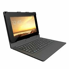 ZAGG Bluetooth Hinged Keyboard Folio Case Android Windows Tablets Black 10-Inch