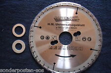 HM Kreissägeblatt Hartmetallsägeblatt Universalsägeblatt160x1,8x30mm Nagelfest