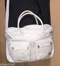 Authentic Belstaff Unisex Antique Ice Tour Leather Holdall Travel Bag NMT