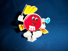 M&M's RED SOCCER FAN M&M Put Together Sticker Figure FRENCH Pocket Surprise M&Ms