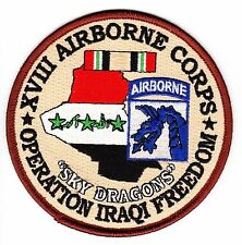 """18th Airborne Corps Operation Iraqi Freedom 4"""" Patch"""