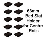 Double Plastic Bed Slat Holders/ Caps for 63mm Beech Sprung Bed Slats - 2 Prongs