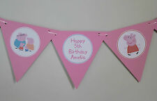 1 x Peppa Pig 12 flag Personalised Party Bunting