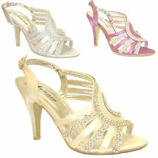 Women's Wedding Sandal Evening Prom Party Shoe Wholesale JobLot of 3 Pairs Ivory