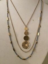 Lucky Brand Gold Tone Circle Layer Necklace $49 item #138