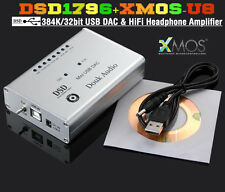 Douk Audio Hi-Res DSD1796 XMOS U8 Asynchronous 384K/32bit USB DAC Headphone Amp