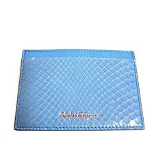 J-1559111 New Salvatore Ferragamo Turquoise Leather Credit Card Holder