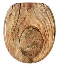SOFT CLOSE PRINTED WC TOILET SEAT | STABLE HINGES | SLOW CLOSE | RUSTIC