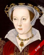THE LAST WIFE KING HENRY VIII CATHERINE PARR PORTRAIT PAINTING ART CANVAS PRINT