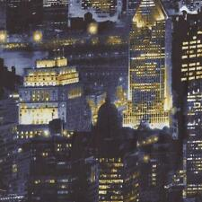 CITYSCAPES NEW YORK CITY AT NIGHT Cotton Fabric BTY for Quilting Craft Etc