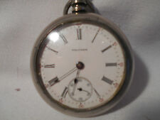 Wells Fargo 1906 Waltham Pocket Watch Model 1883 15 Jewel Runs