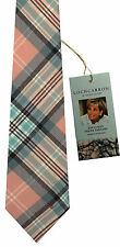 Princess Diana Rose Pink Tartan Scottish Soft Pure Wool Mens Tie