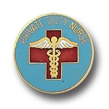 Private Duty Nurse Pin PDN Nursing Medical Insignia Emblem Gold Plated 933 New