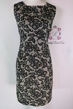 Gibson & Latimer New NWT Black/Cream Shealth sleeveless dress size S