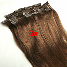 Tengda Clip in Remy Extension Straight 100% Human Hair 15''18''20''24''28'' Thin