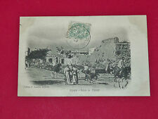 CPA CARTE POSTALE 1906 COLONIES FRANCE TUNISIE MAGHREB BIZERTE ROUTE DE MATEUR