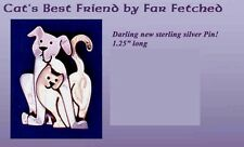 CAT'S BEST FRIEND Sterling Silver CAT Pin by Far Fetched