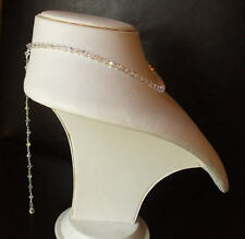 CRYSTAL BACKDROP BRIDAL NECKLACE HANDMADE DESIGNER JEWELRY AB SWAROVSKI ELEMENTS