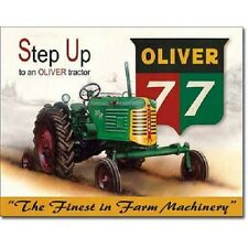 Oliver 77 Step Up Tractor Farming Farm Equipment  Retro Vintage Metal Tin Sign