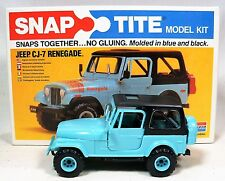 Vintage 1980 JEEP CJ-7 RENEGADE Snap Tite Model Kit By Monogram - Original Box