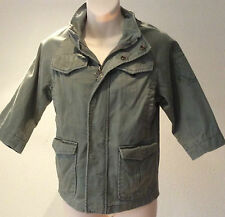 Gap ~ khaki green tough wear USA Army field jacket fully lined ~4-5 years unisex