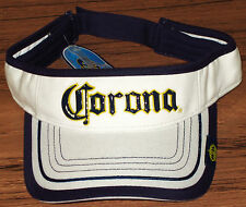 CORONA VISOR HAT/CAP White & Navy Blue Licensed NEW