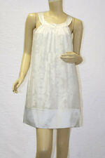 "$260 BCBG OFF WHITE ""SAF66317"" FLORAL LACE SLEEVELESS SILK / POLY DRESS NWT S"