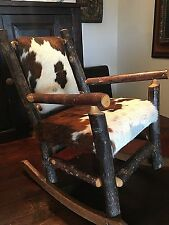 Vintage Child's Rocking Cowhide Chair - Western Home Decor