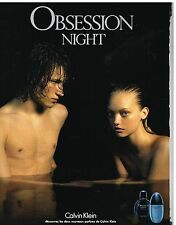 Publicité Advertising 2006 Les parfums Obsession Night par Calvin Klein